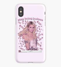 Paris Hilton 'Stop Being Jealous' Art v.2 iPhone Case
