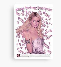 Paris Hilton 'Stop Being Jealous' Art v.2 Canvas Print