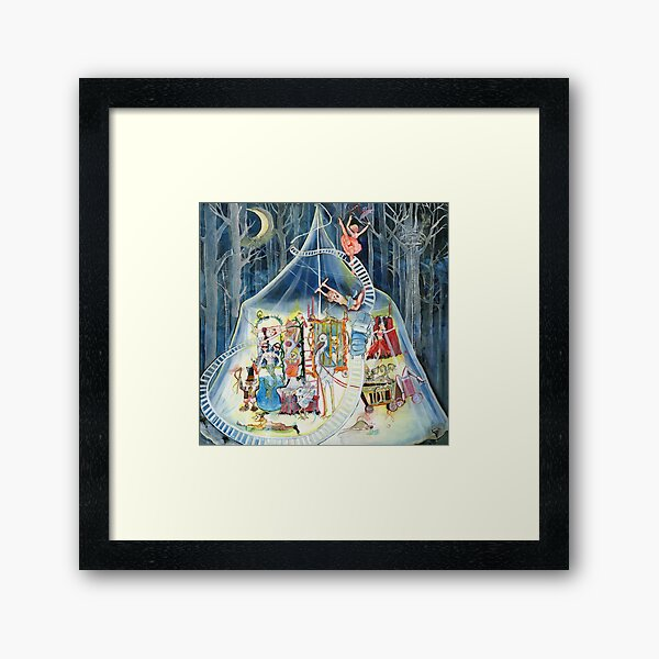 Black Birch Circus Framed Art Print