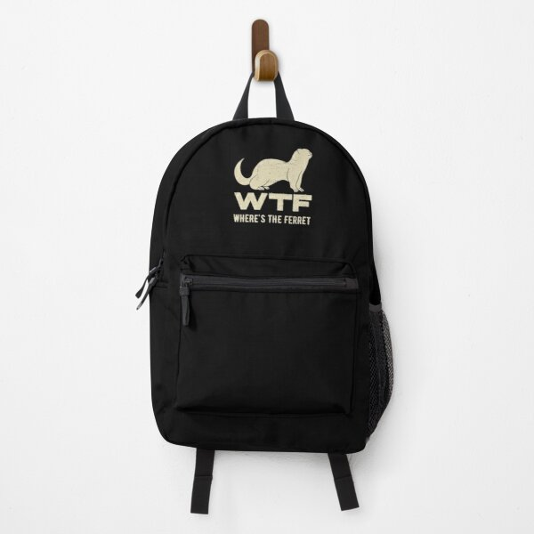 Wheres The Ferret Funny Ferret Backpack