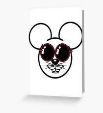 mouse sweet love Sunglasses Greeting Card