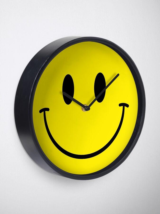 Alternate view of Acid House Smiley Clock