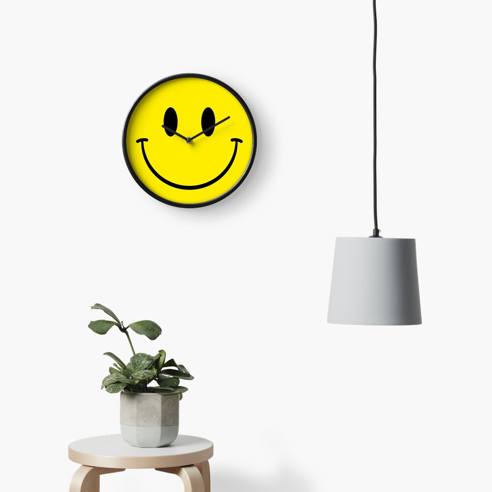 Acid House Smiley Clock