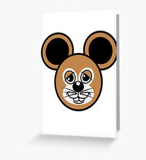 sweet love stupid mouse Greeting Card