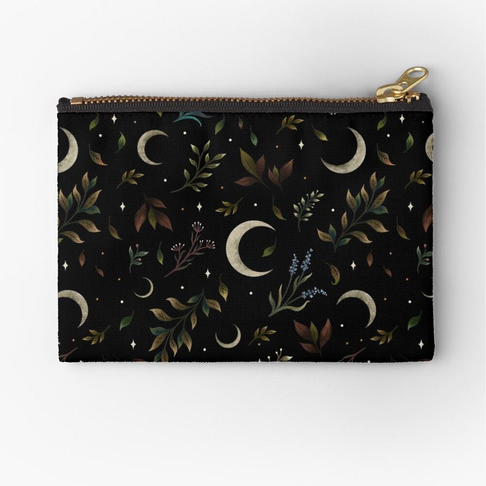 Crescent Moon Garden Zipper Pouch