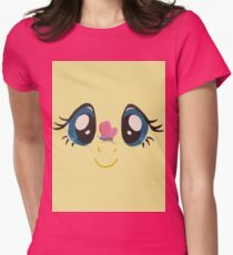 Fluttershy and Butterfly Womens Fitted T-Shirt