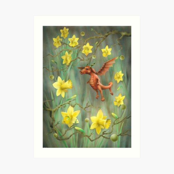 Baby Welsh Dragon Art Print