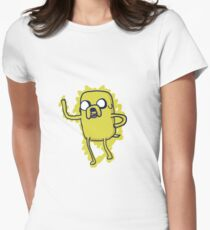 Jake The Dog - Hand Drawn Womens Fitted T-Shirt