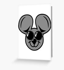 fun friendly mouse sunglasses Greeting Card