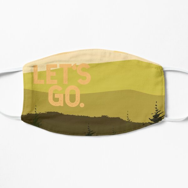 let's go mountains with full moon Flat Mask
