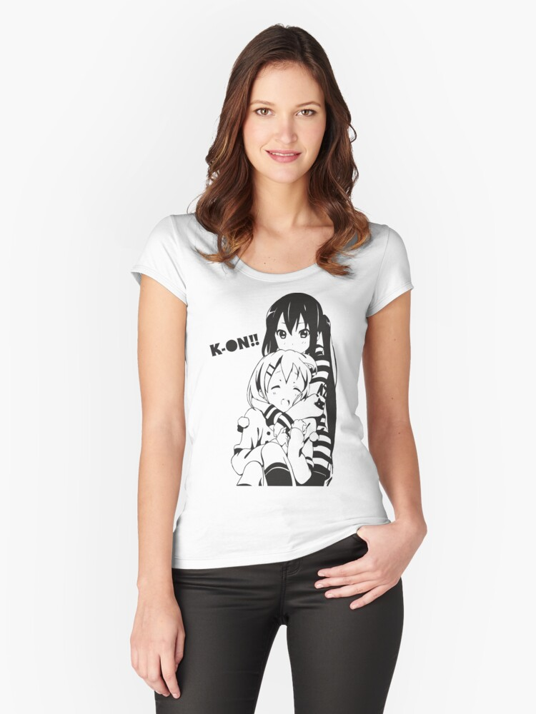 K-On!! Azusa & Yui Women's Fitted Scoop T-Shirt Front