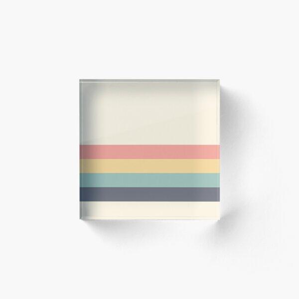 Retro stripe Acrylic Block