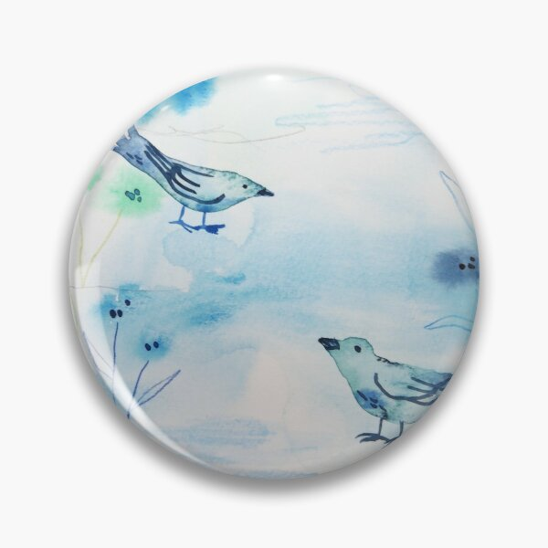 Blue garden birds Pin