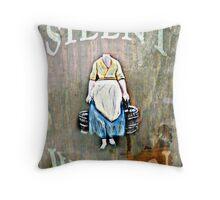 The Silent Woman Throw Pillow