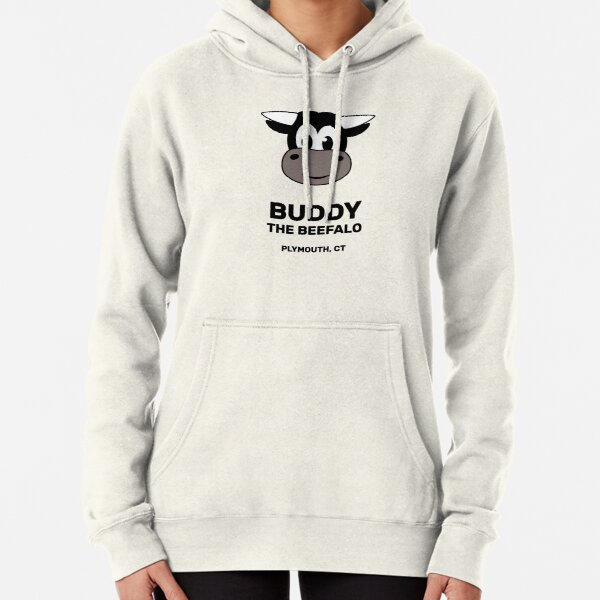Buddy the Beefalo Plymouth, CT Pullover Hoodie
