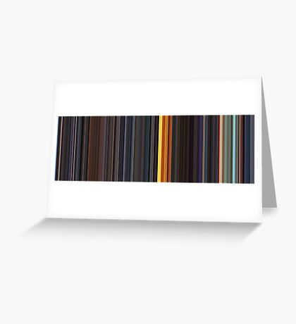 Moviebarcode: Sequence from Kill Bill: Vol. 1 - Chapter 3: The Origin of O-Ren (2003) [Simplified Colors] Greeting Card