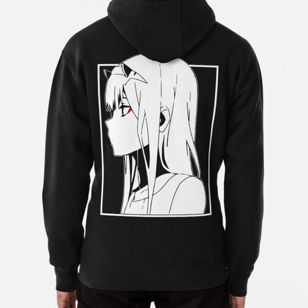 Zero Two Back [Darling in the Franxx] Pullover Hoodie