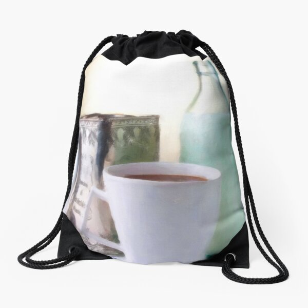 Coffee with friends Drawstring Bag