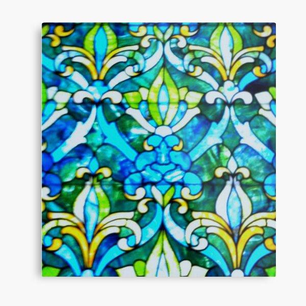 The Historic Reitz Home Stained Glass-Joseph Reitz room Metal Print