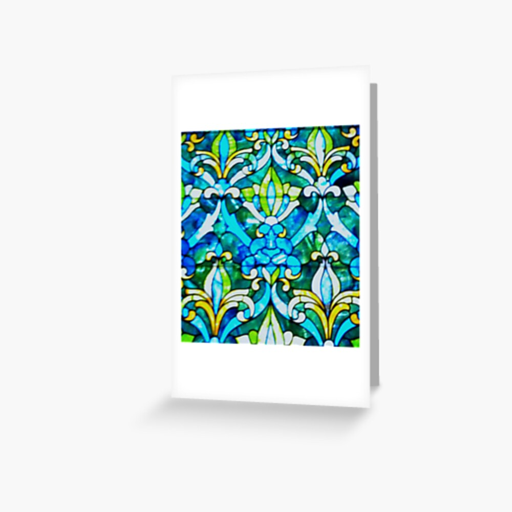 The Historic Reitz Home Stained Glass-Joseph Reitz room Greeting Card