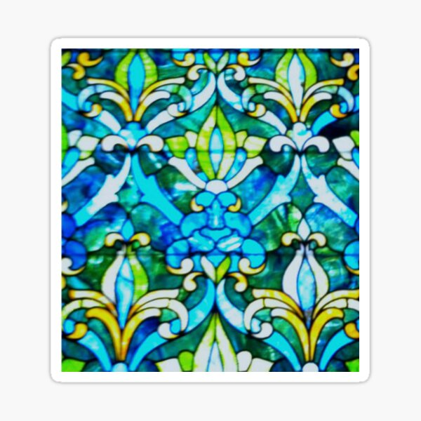 The Historic Reitz Home Stained Glass-Joseph Reitz room Sticker