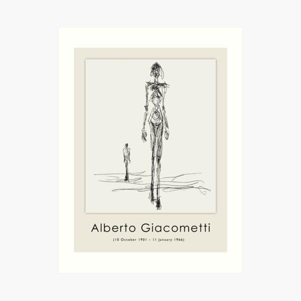 Poster-Alberto Giacometti-Silhouette of a woman. Art Print