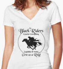 Black Riders Courier Company Women's Fitted V-Neck T-Shirt