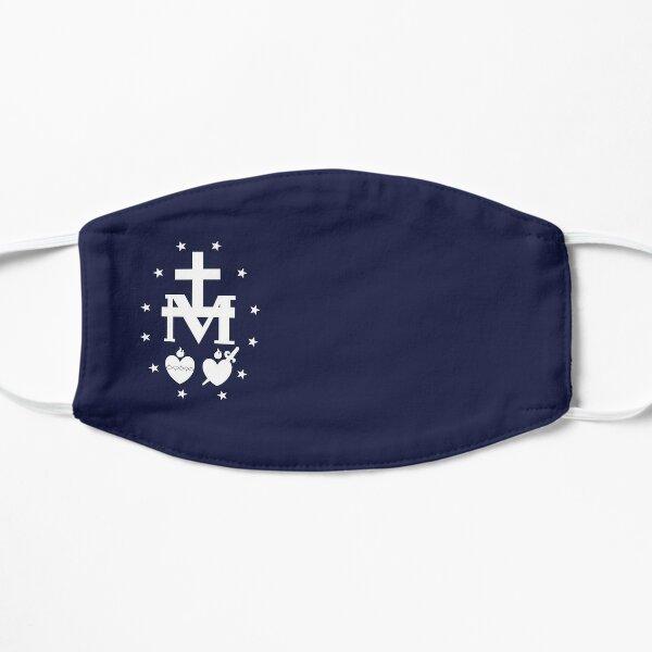 Masque Médaille Miraculeuse Blanche Masque sans plis