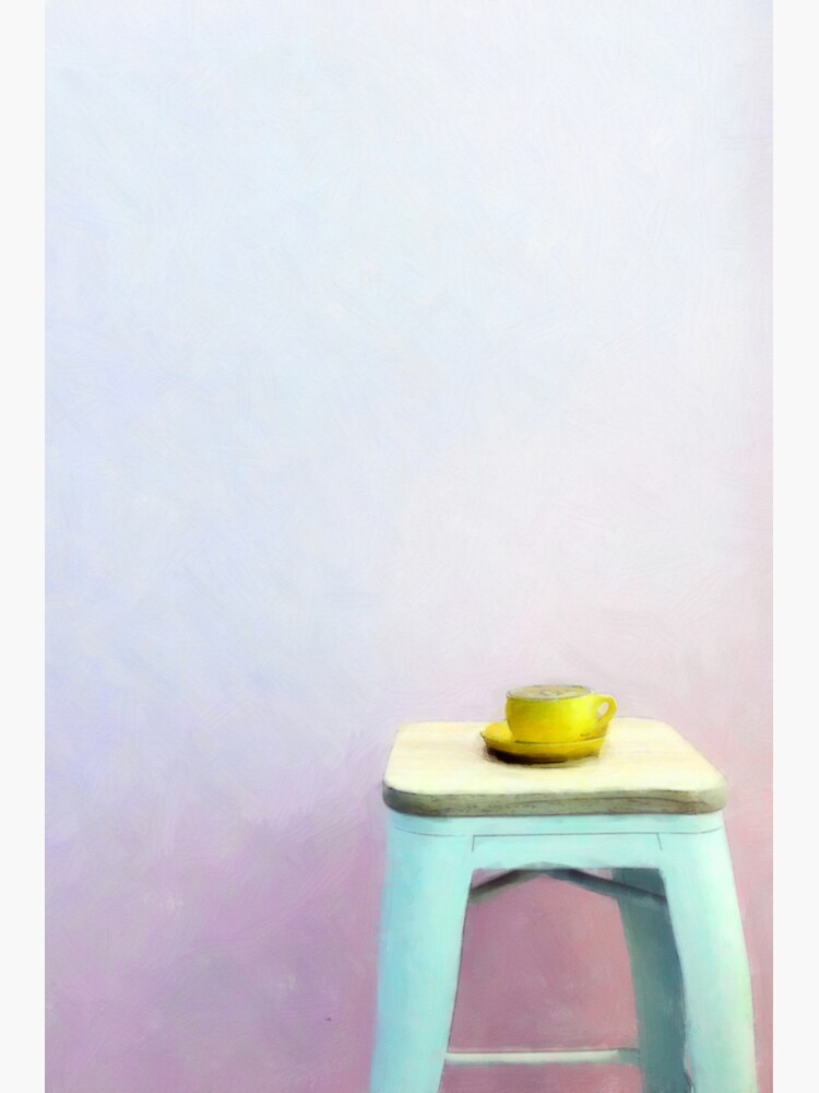 Coffee waiting patiently on a stool by StackingStones