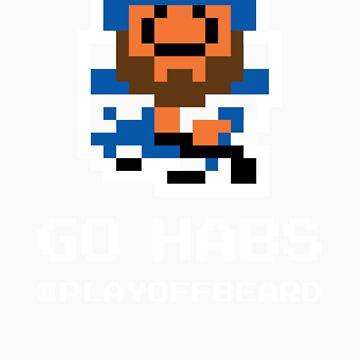 GO HABS! 8-bit Playoff Beard! by pointandthread