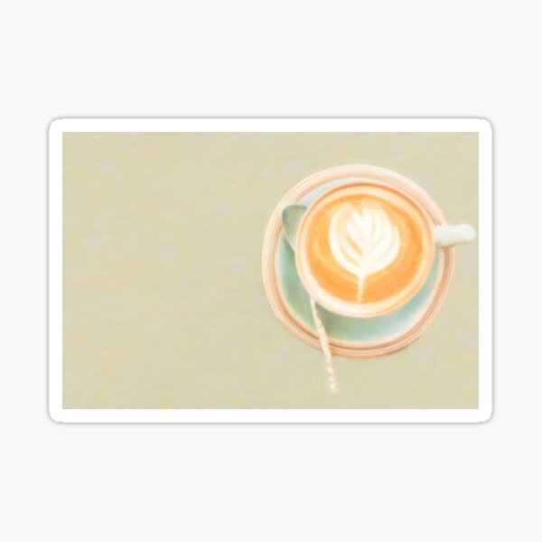 Coffee steaming by itself Sticker