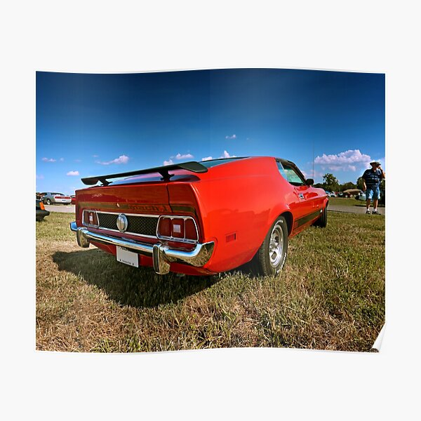 1973 Ford Mustang Mach 1 Poster