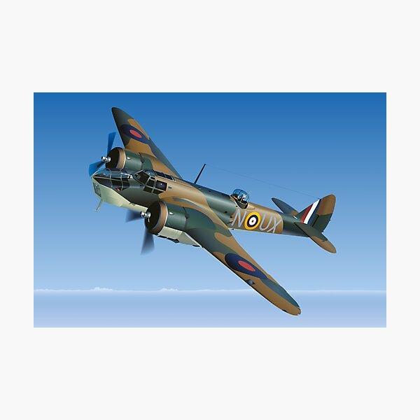 Bristol Blenheim Aircraft Art Print Poster Photographic Print