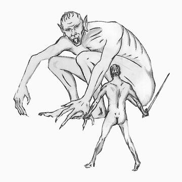 Beowulf Meets Grendel by SRSSigils