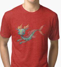The Fish Dragon Tri-blend T-Shirt