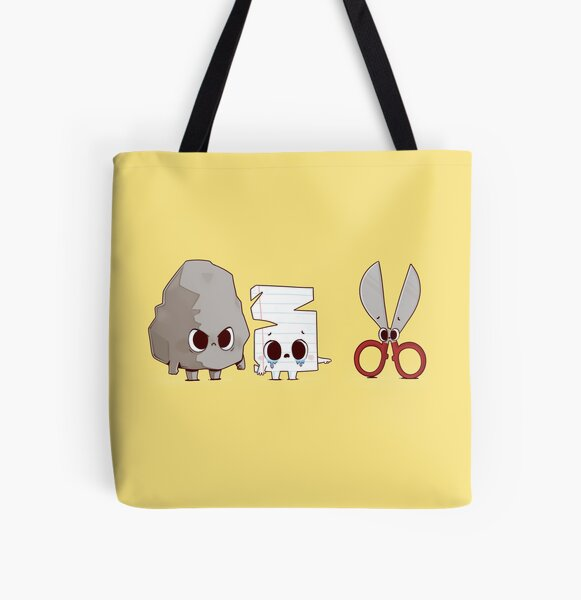 Rock Paper Bully All Over Print Tote Bag