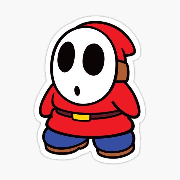 Black Shy Guy Sticker