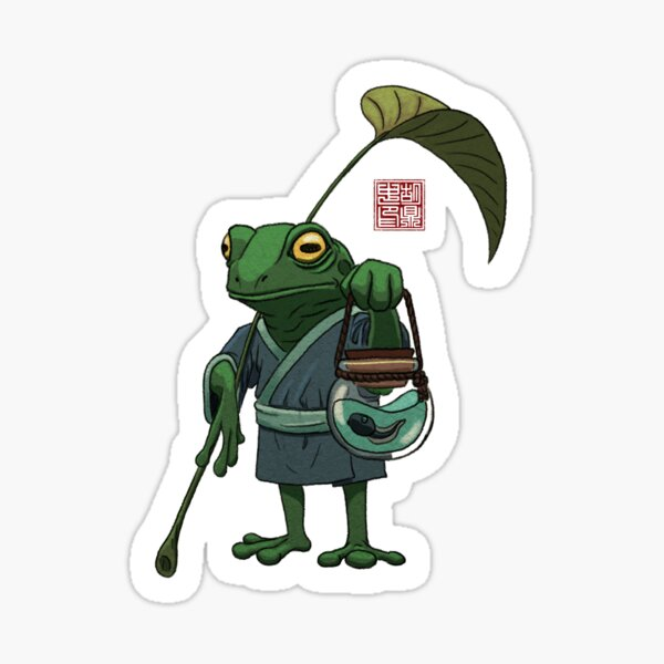 A Frog and His Son Sticker