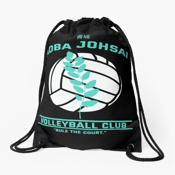 Haikyuu!,Aoba Johsai High School Volleyball Club, Blue Drawstring Bag
