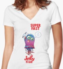 Superfast Jellyfish Women's Fitted V-Neck T-Shirt
