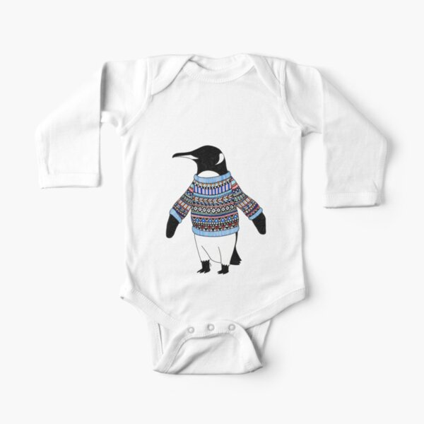 Penguin Long Sleeve Baby One-Piece