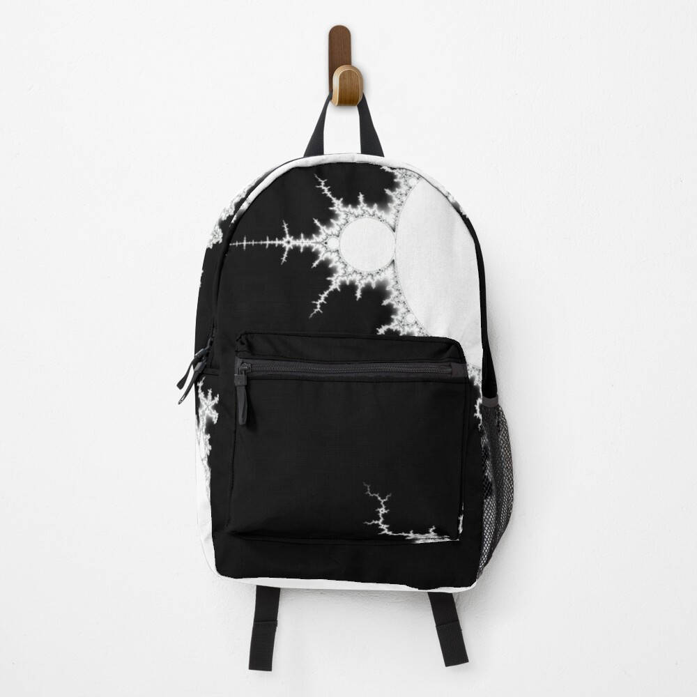 Mandelbrot - Monochrome - White Fill Backpack