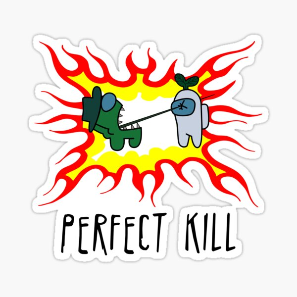 Imposter Killing Crewmate Among Us Sticker By Movielovermax Redbubble