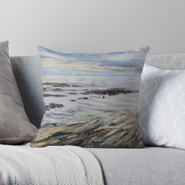 Melancholy Seas Throw Pillow