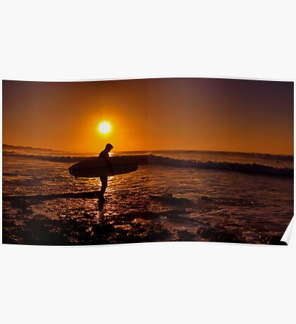 """""""Dawn Surfer"""" Poster"""