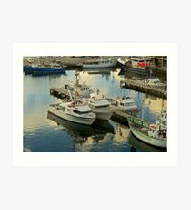 Hobart in the evening Art Print