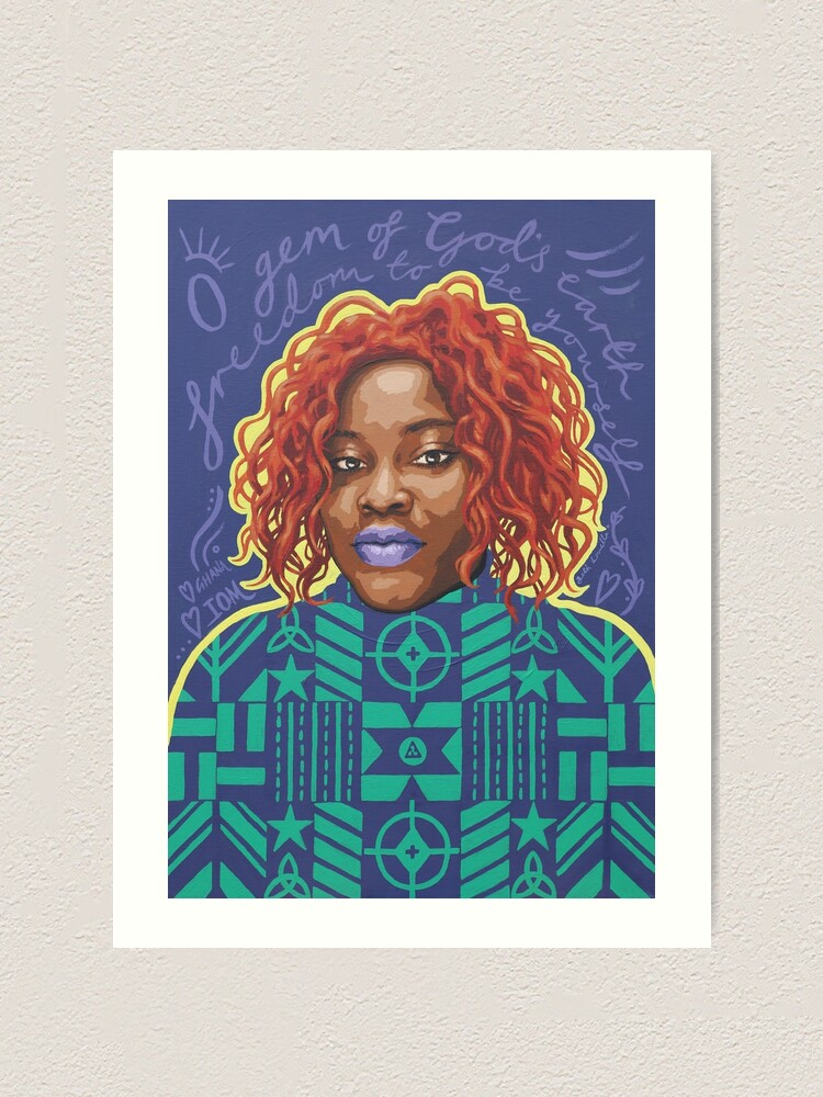 Alternate view of O Gem - AFRIOM Portraits Art Print