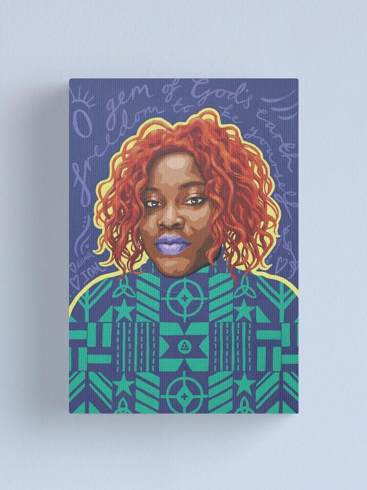 Alternate view of O Gem - AFRIOM Portraits Canvas Print