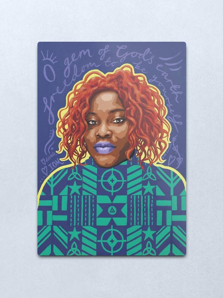 Alternate view of O Gem - AFRIOM Portraits Metal Print