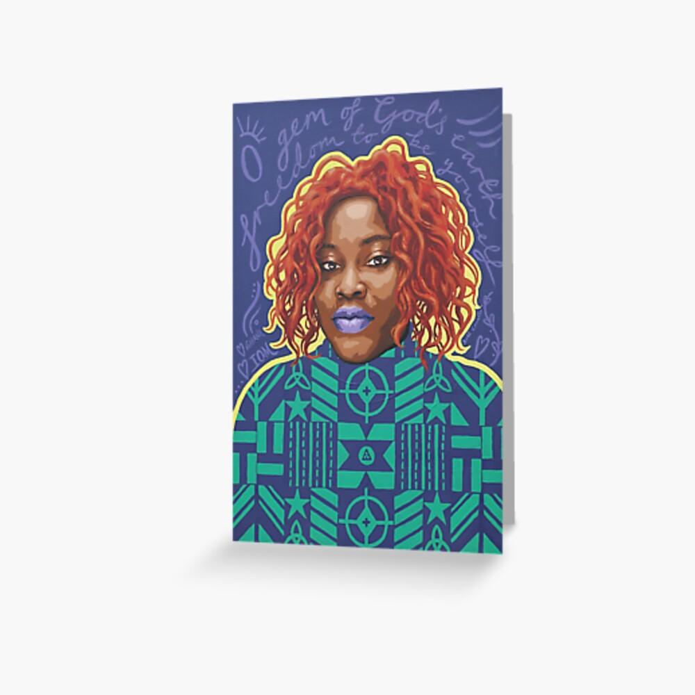 O Gem - AFRIOM Portraits Greeting Card